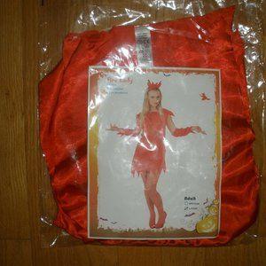New Womens 4PC Devil Lady Halloween Costume M & L